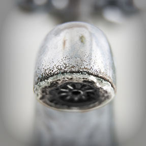 Crusty faucets and fixtures