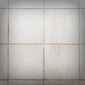 Unclean tiles