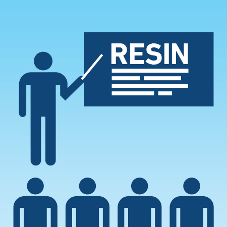 A diagram explaining what resin is
