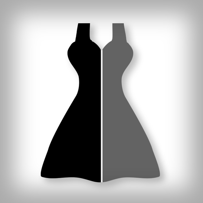 black and gray dress from hard water